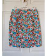 Retro Floral Skirt 90s Cotton Garden Print Vint... - $9.99