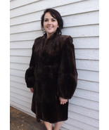 40s Sheared Beaver Fur Coat Brown Vintage Albrecht Furs Minneapolis S M - $149.00