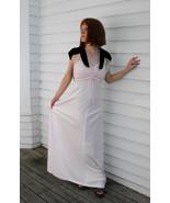 Maxi Velvet Lace Vintage 70s Dress XS Pink Burg... - $29.99