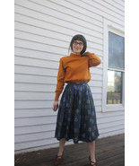 Print Skirt Starry Night Vintage 50s 60s Full C... - $29.99