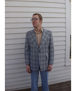 Plaid Mens 70s Jacket Vintage HIS Blazer Sport ... - $29.99