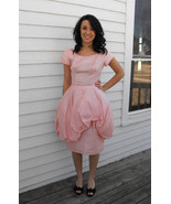 Vintage Prom Dress 60s Pink Party XS Bubblegum Peplum Cocktail Formal 1960s - $79.99