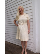60s Gracie Square Originals Dress Vintage Ivory... - $39.99