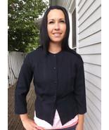 Vintage 50s Black Jacket Short Suburban Set S 3... - $9.99
