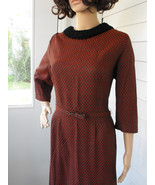 Bufallo Plaid Dress Red Black Check Print 60s V... - $39.99