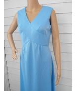 Blue Maxi Dress 70s Sleeveless Long Vintage 8 S - $19.99