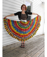 Vintage 50s Mexican Skirt Kent Wrap Hand Painted S Rainbow Folk Full - $149.00