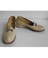 Vintage Penneys Shoes Bone Ivory Tan Casual 9 - $29.99
