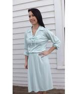 70s Retro Dress Casual Secretary M S Pale Green... - $24.99