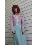 70s Plaid Jacket Hippie Retro Pink Vintage Josh... - $19.99