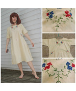 Vintage Embroidered Dress Ethnic Old Middle Eas... - $29.99