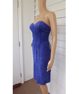 Purple Mini Dress Strapless Suede Leather NOS P... - $29.99