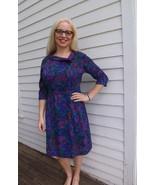 Vintage 60s Purple Print Soft Dress Berkshire M... - $39.99