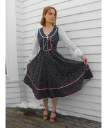 Gunne Sax Dress Blue Floral 70s Prairie Vintage... - $89.99