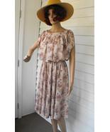 Hippie Print Dress Butterfly Butterflies Floral... - $29.99