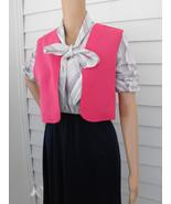 Striped Dress Retro 70s 80s Casual Secretary Bl... - $29.99