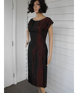 60s Red Cocktail Dress Evening Party 1960s Vintage New Years S XS - $58.00