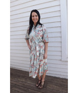 Floral Dress Vintage 70s 1970s Casual Country H... - $29.99
