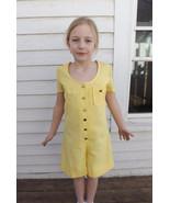 60s Girls Yellow Mod Jumper Romper Shorts Vinta... - $29.99