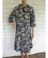 Vintage 60s Print Dress Mod Muti Color Artsy Pa... - $39.99