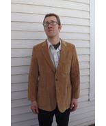 Vintage Mens Corduroy Jacket Blazer Suede Elbow... - $39.99