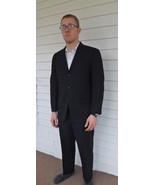 Vintage Mens Suit Surretwill 50s 60s Black Jacket Pants 40 - $99.00