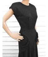 Retro 40s Black Dress Vintage 80s Party Cocktail 1980s XS S - $59.99
