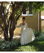 Ivory Wedding Dress Vintage Gunne Sax Floral 70... - $79.99