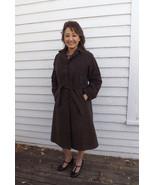 Vintage Brown Coat Faux Suede Vegan Non Leather... - $29.99