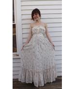 Gunne Sax Maxi Summer Dress Floral Ivory 1970s ... - $79.99