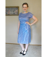 60s Lace Dress Cocktail Party 1960s Vintage Lav... - $69.99