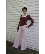 Pink Corduroy Pants Wide Leg Bellbottom Vintage... - $24.00