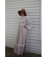 Gunne Sax Dress Prairie Pioneer Homesteader Western Floral Print XS Full... - $79.99
