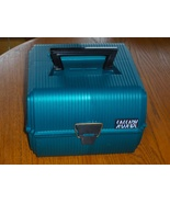 Sassaby Deluxe Teal Green Case Train Makeup Jewelry Crafts Organizer - $34.97