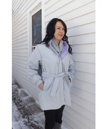Gray Jacket Spring Windbreaker Coat Womens 1980... - $19.99