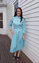 50s Plaid Dress Blue Print 1950s Vintage Toni Todd S M 36 Bust - $59.99