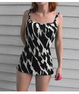 Vintage 60s Jantzen Swimsuit Black White Print ... - $59.00
