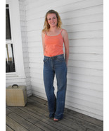 Vintage Hash Jeans Denim 70s 80s 34 Inseam 28 High Waist - $59.99