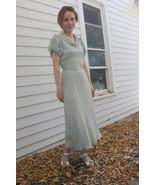 Vintage 1930s Dress Pale Blue Art Deco 30s XS - $125.00