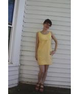 Yellow Gingham Mini Dress Summer Sleeveless Vin... - $29.99
