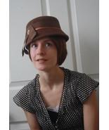 Vintage Brown Hat Casual Cute Felt - $29.99