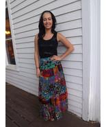 Sheer Maxi Print Skirt Boho Long Summer Vintage... - $14.99