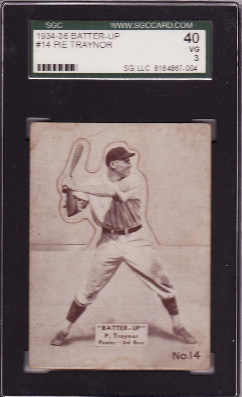 Pie traynor 1934 36 batter up  14 sgc 40 vg 3