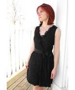 Lanz Black Lace Cocktail Dress Vintage Party 19... - $59.99