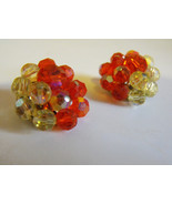 Vintage 50s Earrings Clip On Costume Jewelry Re... - $6.99