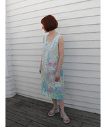 Floral Shift Print Vintage 70s Dress Spring Sum... - $25.00