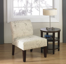Ave Six Laguna Armless Living Room Lounge Bedroom Side Accent Chair 2 Co