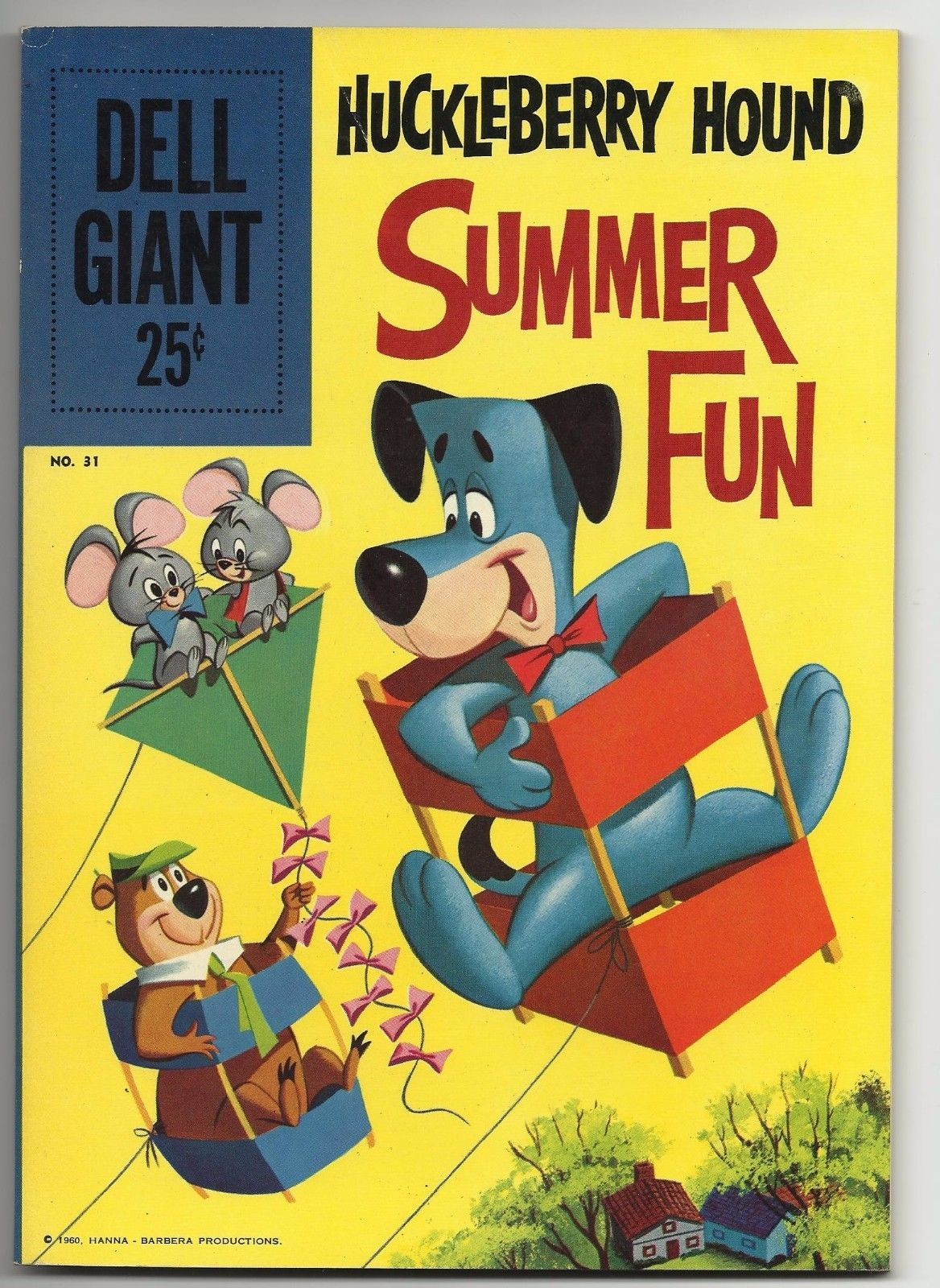 Dell Giant #31 Huckleberry Hound Summer Fun - beautiful fine 6.0 copy Yogi Bear