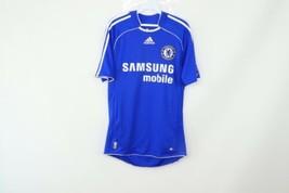 Vintage Adidas Uomo Piccolo Chelsea FC 06/07 Manica Corta Calcio Jersey Kit - $33.62