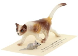 Calico Cat and Mouse Figurine Set of 2 Miniatures by Hagen-Renaker, INC image 1